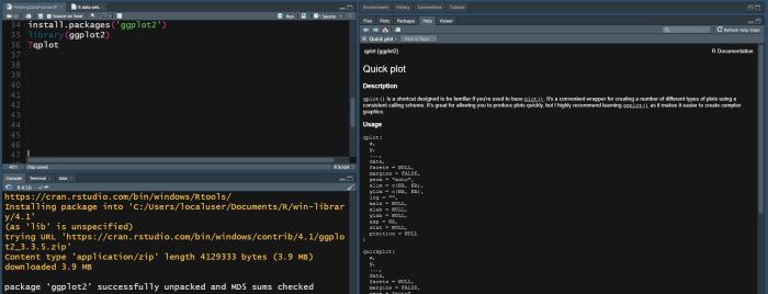 R Programming installing GGPlot2