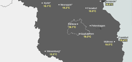 Tageshöchsttemperaturen am 25.02.2021