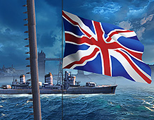 World Of Warships — British Cruisers (Interactive)