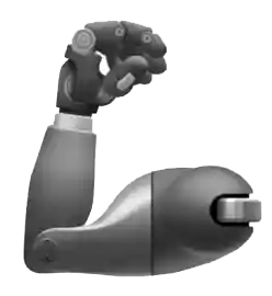 Emoji of a prosthetic arm