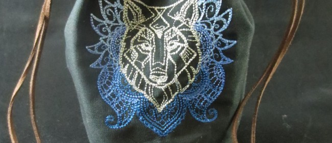 Anima Wolf Drawstring Dice Bag