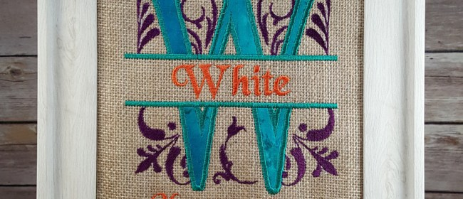 White Royal Split Burlap Applique