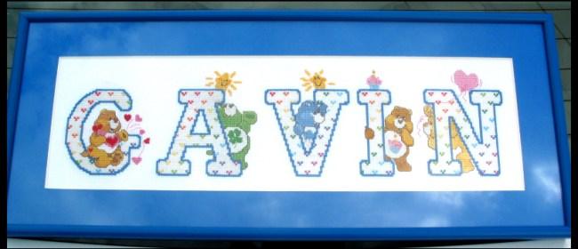 Gavin Care Bears Alphabet