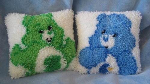 Care Bears Latch Hook Pillows