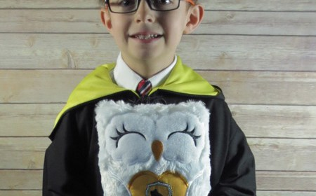 Hufflepuff Robe and Owl Stuffy