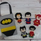 Justice League Felt Finger Puppets