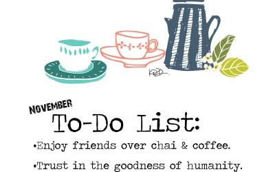 November To-Do List…