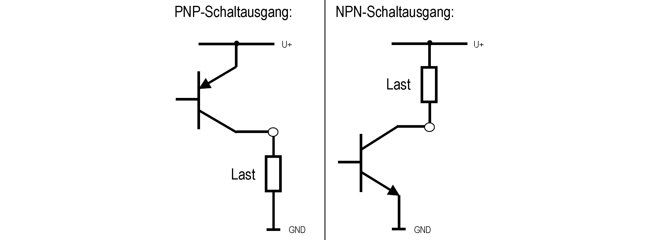 Anschluss Pnp Und Npn Transistorschaltausgang Bei