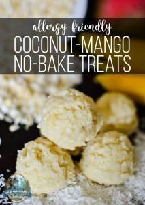 Coconut-Mango No-Bake Treats {allergy-friendly!}