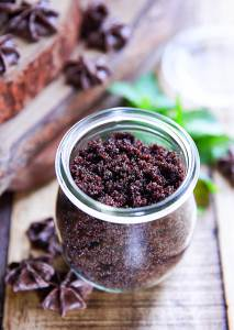 Raw Chocolate Sugar Scrub   Would you like another reason to justify your love of chocolate? Cacao is a rich source of skin-protecting vitamins and antioxidants -- so make this exfoliating scrub to nourish your skin. I dare you not to eat it in the shower!   WildernessFamilyNaturals.com