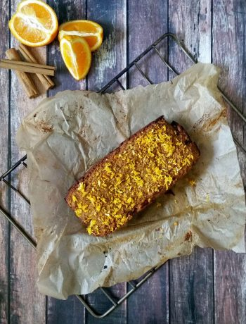 Christmas Spiced Orange Bread {grain-free & gluten-free} | Mixing orange with Christmas spices, adding a hint of ginger.... Mmmmm... it's basically a Christmas party in your mouth! I'm excitedly imagining Christmas morning and how I'll share this Christmas-Spiced Orange Bread and a warm cup of coffee with my family. | WildernessFamilyNaturals.com