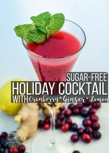 Sugar-Free Holiday Mocktail With Cranberry, Ginger, & Lemon