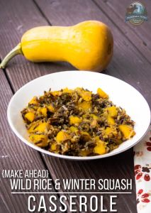 Make-Ahead Wild Rice & Winter Squash Casserole
