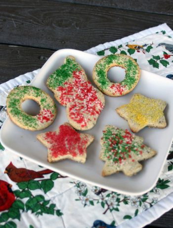 Gluten-Free Cut-Out Cookies | To this day, the tradition of baking and decorating cut-out cookies with my grandma continues to be one that is closest to my heart. So grab the cookie cutters and the kids for an afternoon of making gluten-free sugar cookies to eat and give freely this holiday season! | WildernessFamilyNaturals.com