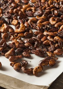 Sweet 'n Spicy Nuts | Sweet and spicy nuts also are great for people on the go, for the kids' lunches, for a hike, or to just have in the car or in your purse for a quick snack. They're sweet without being overly sweet, spicy with a little heat on the back end. | WildernessFamilyNaturals.com