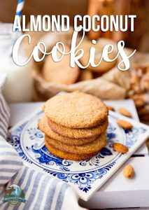 Almond Coconut Cookies | They are soft and chewy, with a melt-in-your-mouth texture; satisfying but not full of refined sugar. And on top of all that, these healthy Almond Coconut Cookies are Paleo, too! | WildernessFamilyNaturals.com