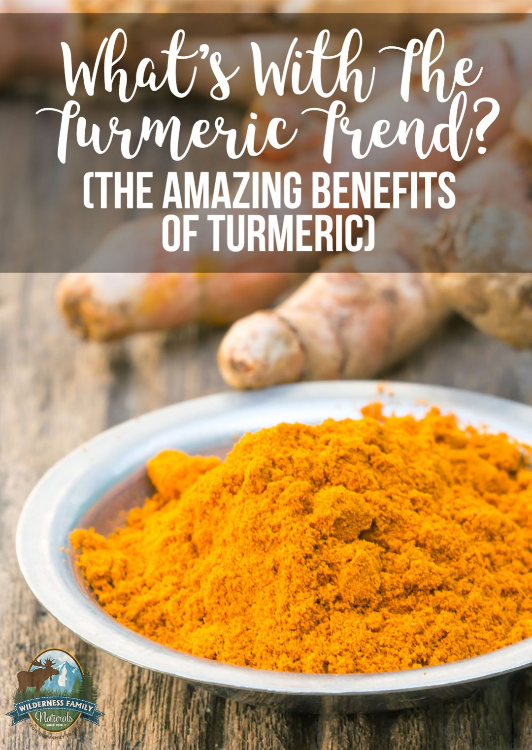 What's With The Turmeric Trend? | Recipes and supplements with turmeric have been popping up on the Internet for a couple of years now... except there's nothing really new about turmeric! The benefits of turmeric have been known by Traditional cultures for thousands of years, but now we've got research to prove what an amazing food turmeric is! | WildernessFamilyNaturals.com