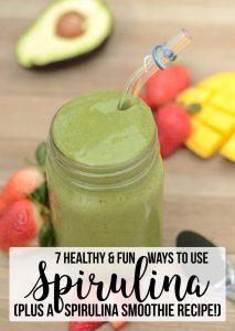 7 Healthy & Fun Ways To Use Spirulina (plus a spirulina smoothie recipe!)