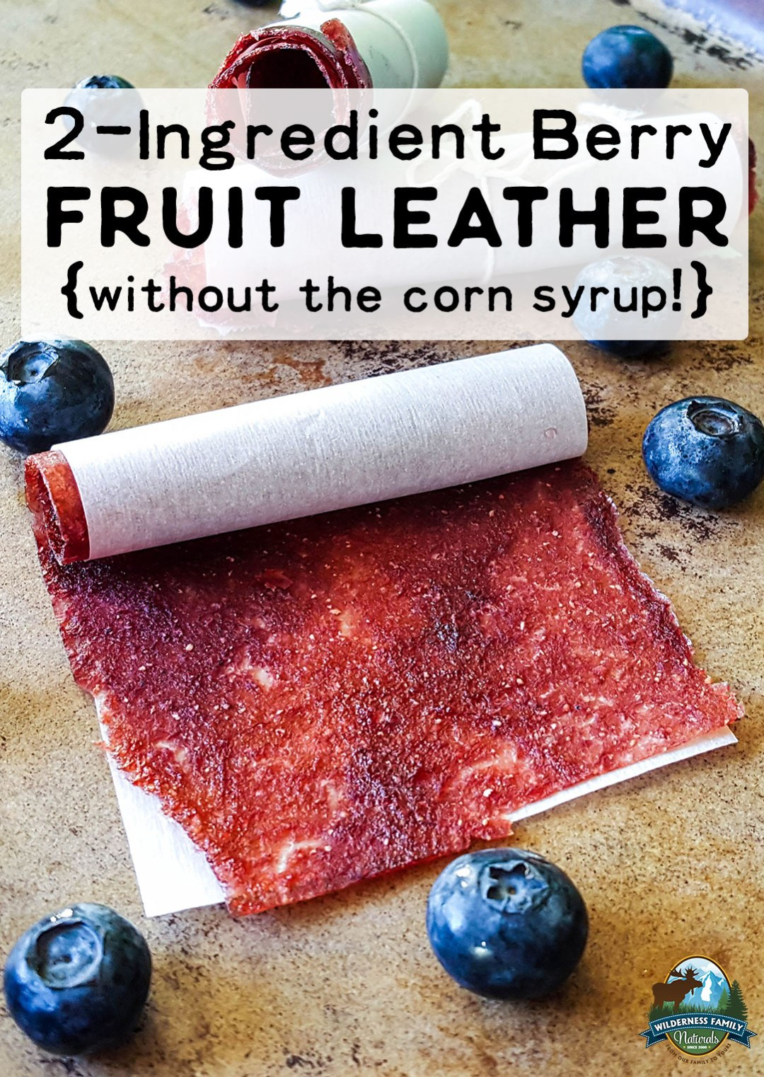2-Ingredient Berry Fruit Leather {without the corn syrup!} | It's so easy to make your own berry fruit leather without the corn syrup! Just 2 ingredients are all you need! Don't have fresh berries? No problem! You won't believe how amazing fruit leather with freeze-dried berries is! | WildernessFamilyNaturals.com