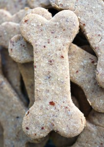 4-Ingredient Peanut Butter Dog Cookies | You've seen the ingredients on the conventional, bone-shaped treats... It's easy to whip up a big batch of 4-Ingredient Peanut Butter Dog Cookies. And since pet food sensitivities and allergies are a real thing, these are, happily, gluten-free. | WildernessFamilyNaturals.com