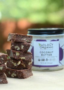 Dairy-Free Coconut Butter & Walnut Fudge | What if I told you it was possible to create decadent, homemade fudge, without refined sweeteners? This Dairy-Free Coconut Butter and Walnut Fudge satisfies intense chocolate cravings with nourishing fats and lauric acid! | WildlyOrganic.com