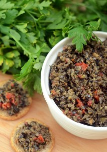 Real Food Tapenade {a healthy olive spread for bread, crackers, & pasta!}