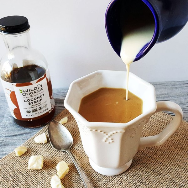 This creamer is basically liquid white chocolate! With healthy fat from cacao butter, this Dairy-Free White Chocolate Coffee Creamer with Real Food ingredients practically guarantees a good morning! Plus, it's perfect for special holiday mornings!