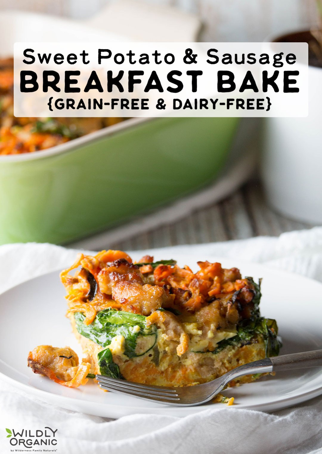 Need the perfect addition to your Christmas breakfast, holiday brunch, or even just a special weekend morning? Then this gluten-free, grain-free, dairy-free, and nut-free Sweet Potato and Sausage Breakfast Bake is IT. It's loaded with tons of flavor and nutritious vegetables.
