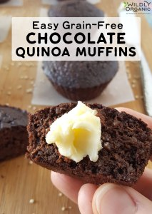 These Grain-Free Chocolate Quinoa Muffins are so easy, even budding chefs can make them (hello, breakfast in bed for mom!). With superfood ingredients like raw cacao, quinoa, and coconut oil, these yummy muffins make a great snack or breakfast on-the-go, too!