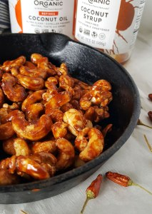 5-Minute Paleo Spicy Glazed Cashews