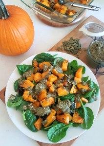 Roasted Pumpkin Salad With Pumpkin Seed Pesto Dressing