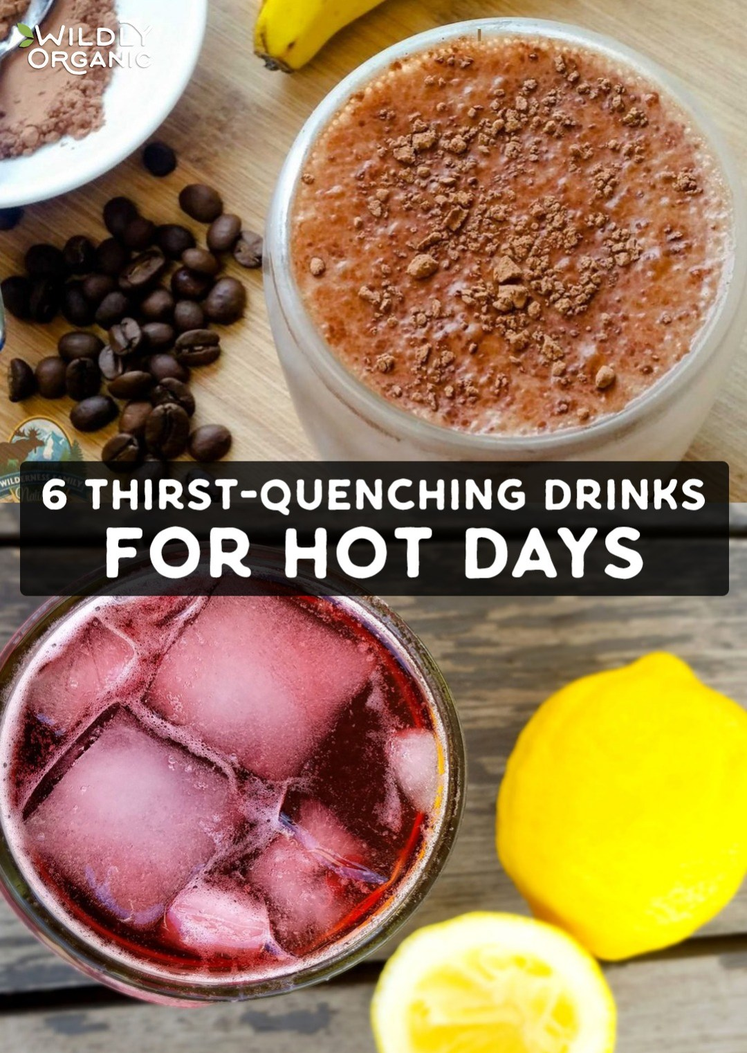 6 Thirst-Quenching Drinks for Hot Days | Don't reach for sugar-laden sports drinks, instead make your own refreshing drinks at home that are hydrating, filling and delicious, too. From fruit forward smoothies to refreshing chia frescas, these thirst-quenching drinks for hot days are made with real food ingredients that are good for you and will keep you going all summer long! #glutenfree #realfood #allergyfriendly #drinks #refreshing