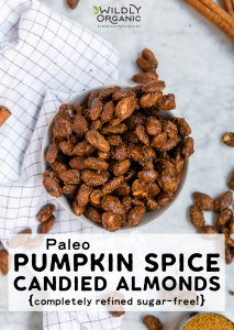 Photo of Paleo Pumpkin Spice Candied Almonds | These pumpkin spiced candied almonds are made completely free of refined sugar! They're also paleo friendly, gluten-free, and vegan, too. If you're looking for an easy fall snack, look no further than these pumpkin spice candied almonds. #pumpkinspice #pumpkin #paleo #glutenfree #veganrecipes #vegan #fallfood #almonds #paleorecipes