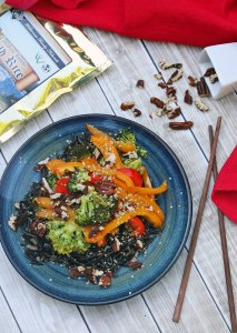 Colorful Vegetarian Wild Rice Stir Fry {Gluten-Free, Dairy-Free, Vegan}