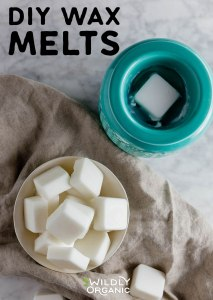 Photo of a bowl of wax melts and a wax warmer