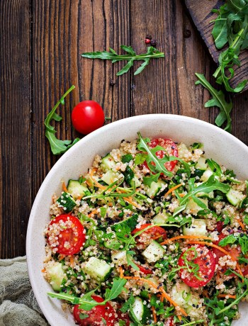 Photo of quinoa salad | How to Make the Perfect Salad with Nutritious Ingredients | Ever wonder how to make the perfect salad with nutritious ingredients? It's not as hard as you may think. Here are some tips to get you started!