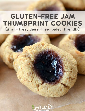 Photo of Jam Thumbprint Cookies | Gluten-free Jam Thumbprint Cookies are the perfect sweet treat for the holidays. Not only are they gluten-free, but they're also grain-free, dairy-free, and paleo-friendly. Wildly Organic Almond Flour and Coconut Oil give these cookies a nutritional boost.