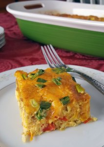 Make-Ahead Vegetarian Egg Bake {easy for busy mornings!}