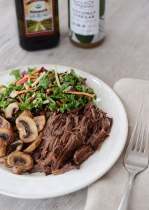 Easy Slow Cooker Roast Beef {Paleo, Whole30, Gluten-Free}