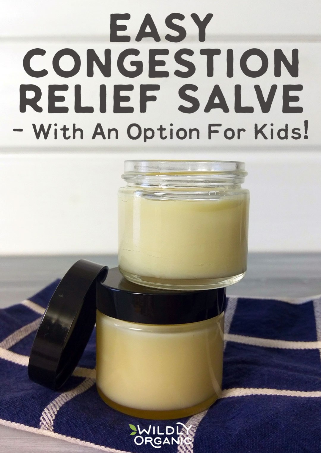 Photo of two jars filled with congestion relief salve.