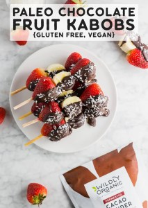 Paleo Chocolate Fruit Kabobs {Gluten Free, Vegan}