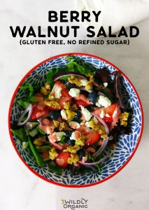 Berry Walnut Salad {Gluten Free, No Refined Sugar}