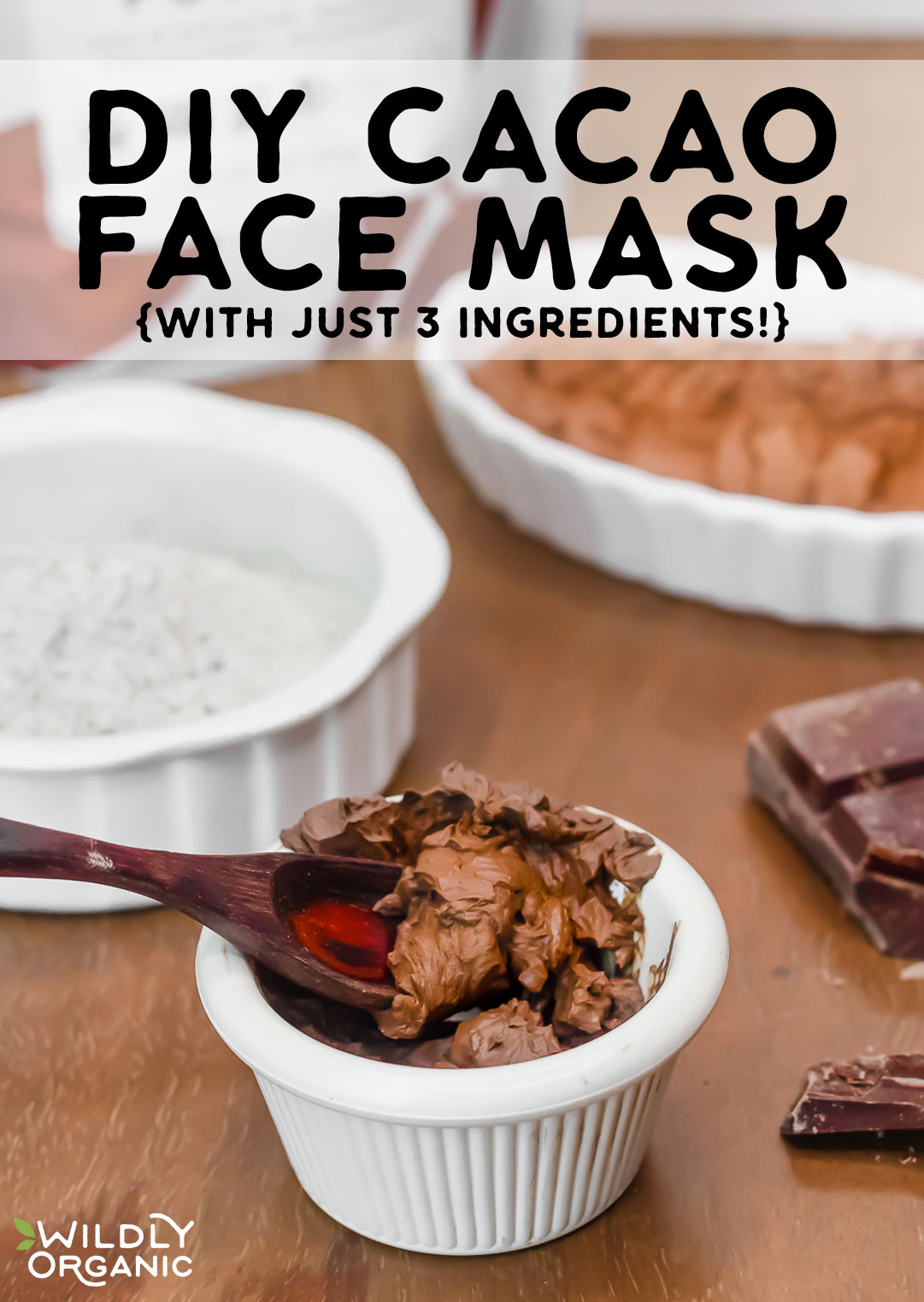 DIY Cacao Face Mask {with just 3 ingredients!}