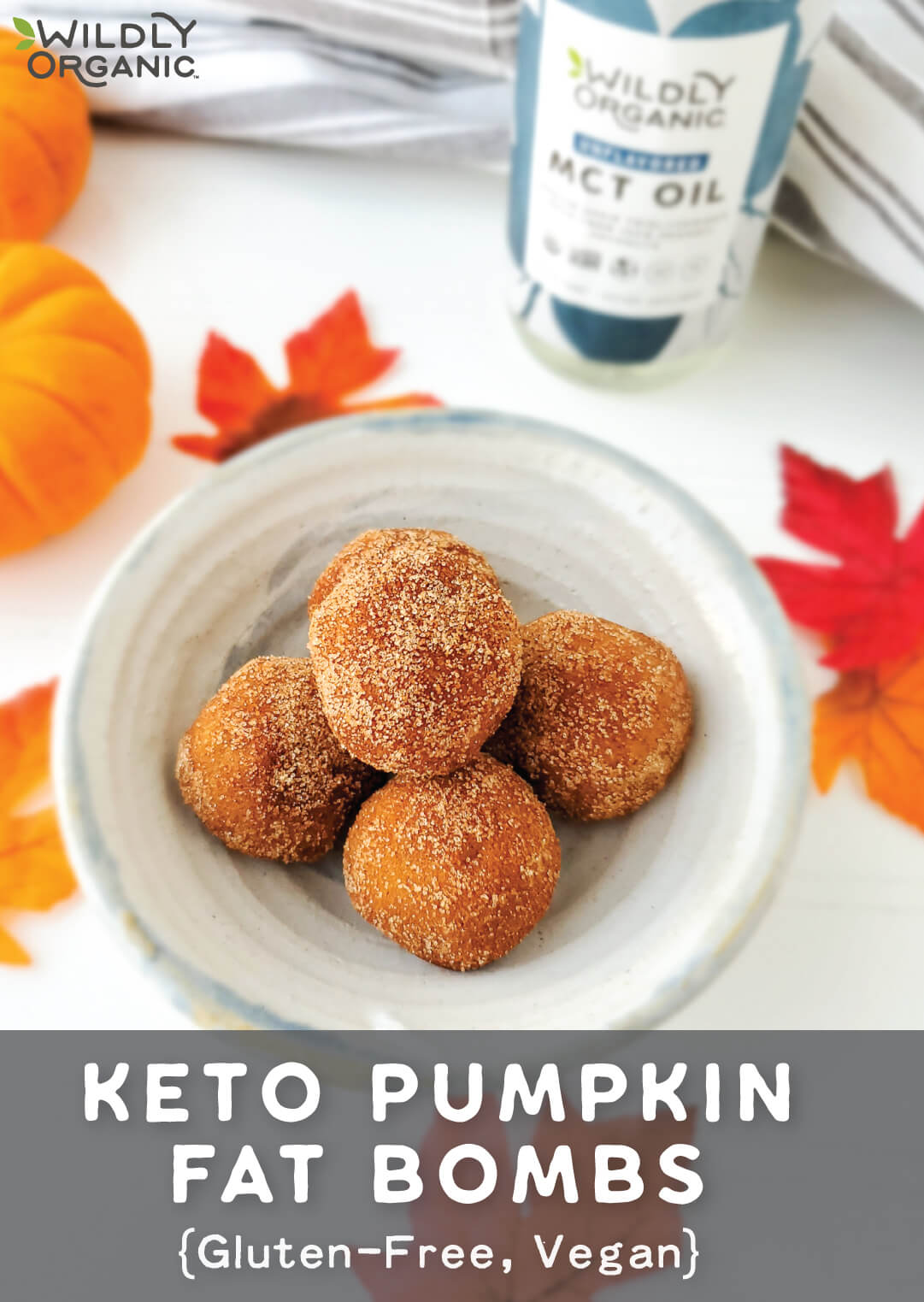 Keto Pumpkin Fat Bombs {Vegan, Gluten-Free}