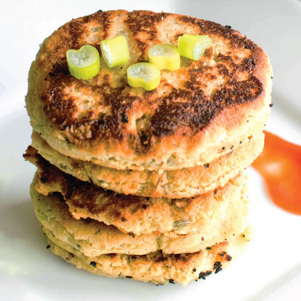 Almond Flour Fritters {Gluten-Free, Vegan}