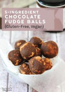 5-Ingredient Chocolate Fudge Balls {Gluten-Free, Vegan}