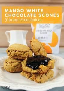 Mango White Chocolate Scones {Gluten-Free, Paleo, Vegan}