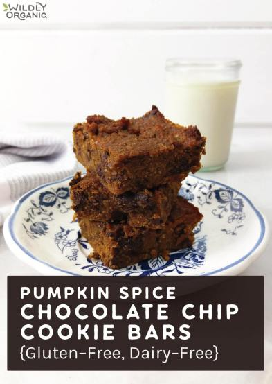 Pumpkin Spice Chocolate Chip Cookie Bars {Gluten-Free, Dairy-Free}