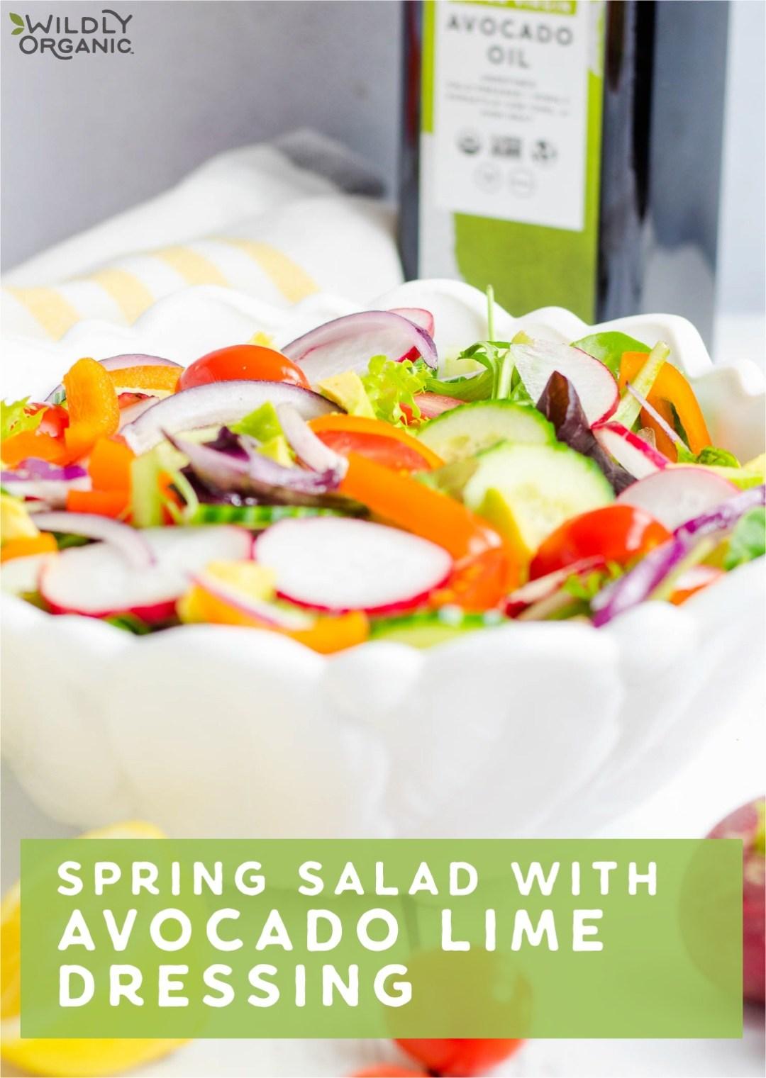 Spring Salad with Avocado Dressing
