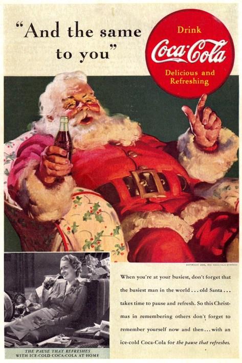 1939 Coca-Cola And the same to you Sundblom flickr